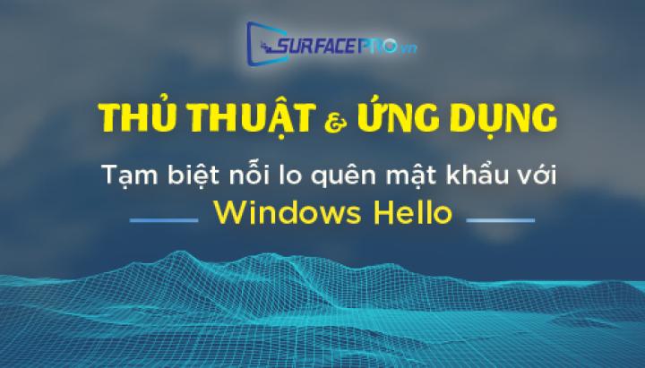 Tạm biệt nỗi lo quên mật khẩu với Windows Hello